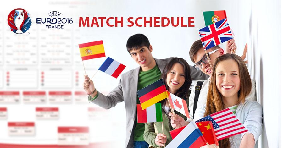 uefa euro match schedule 2016