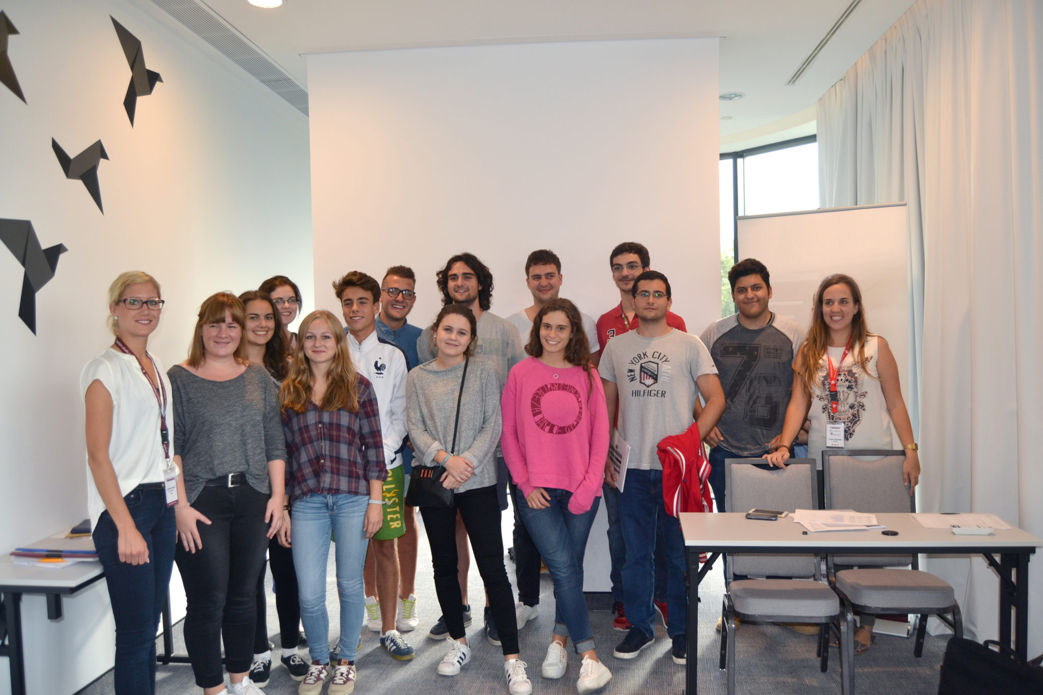 Bialystok students in a group picture